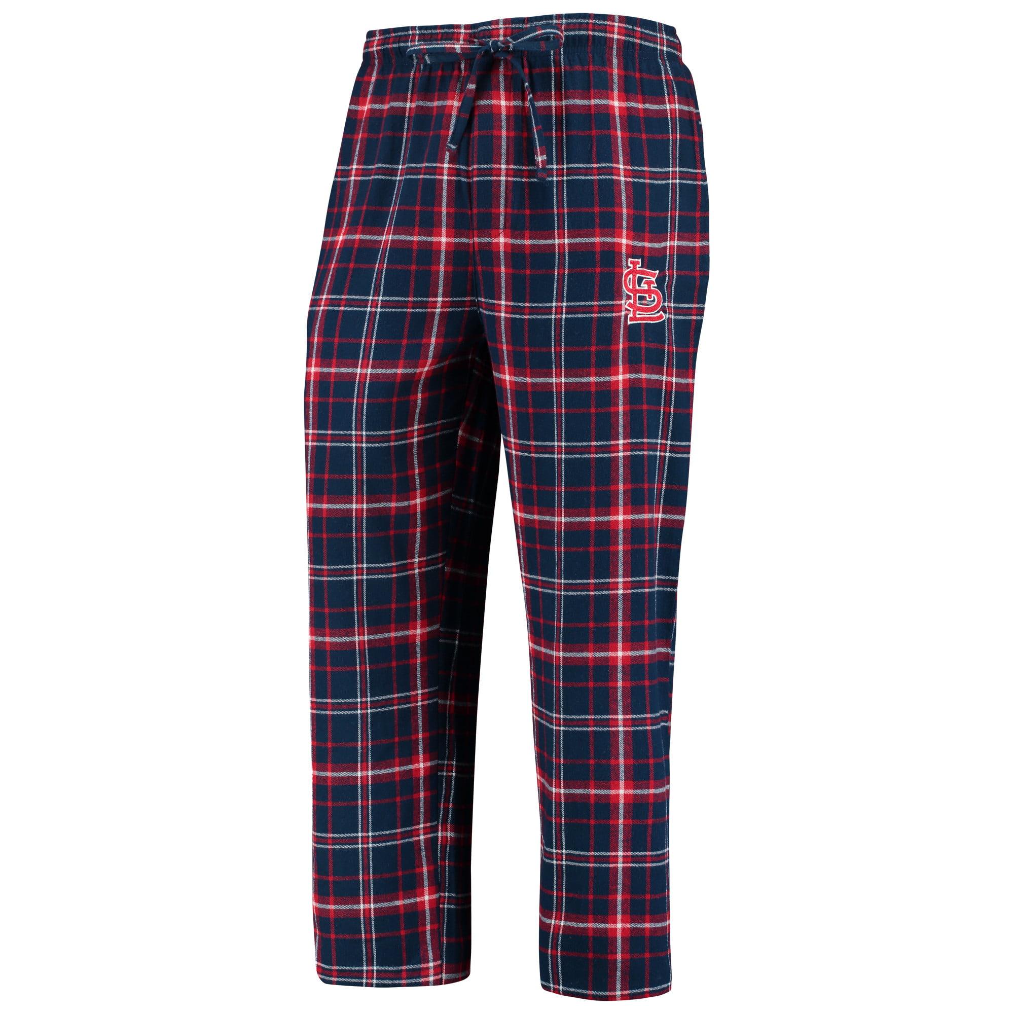 St. Louis Cardinals Concepts Sport Team Ultimate Plaid Flannel Pants - Navy/Red
