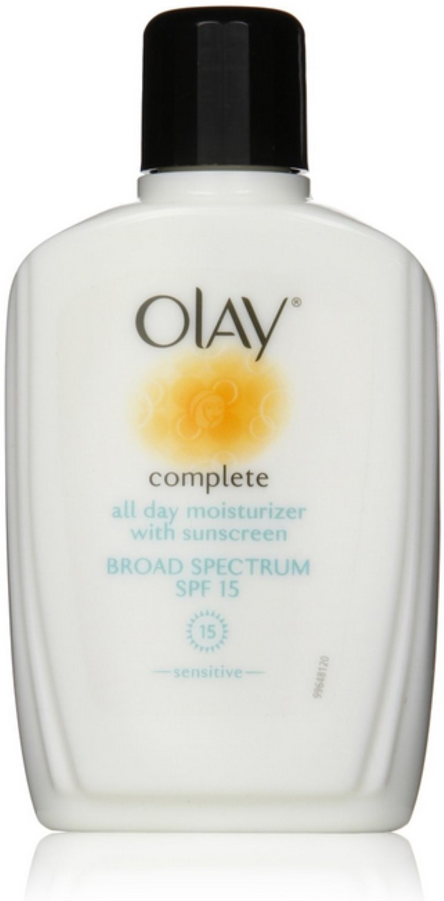 OLAY Complete All Day Moisturizer SPF 15, Sensitive Skin 6 oz (Pack of 2) HeadBlade HeadLube Glossy Moisture Lotion 5 Ounce