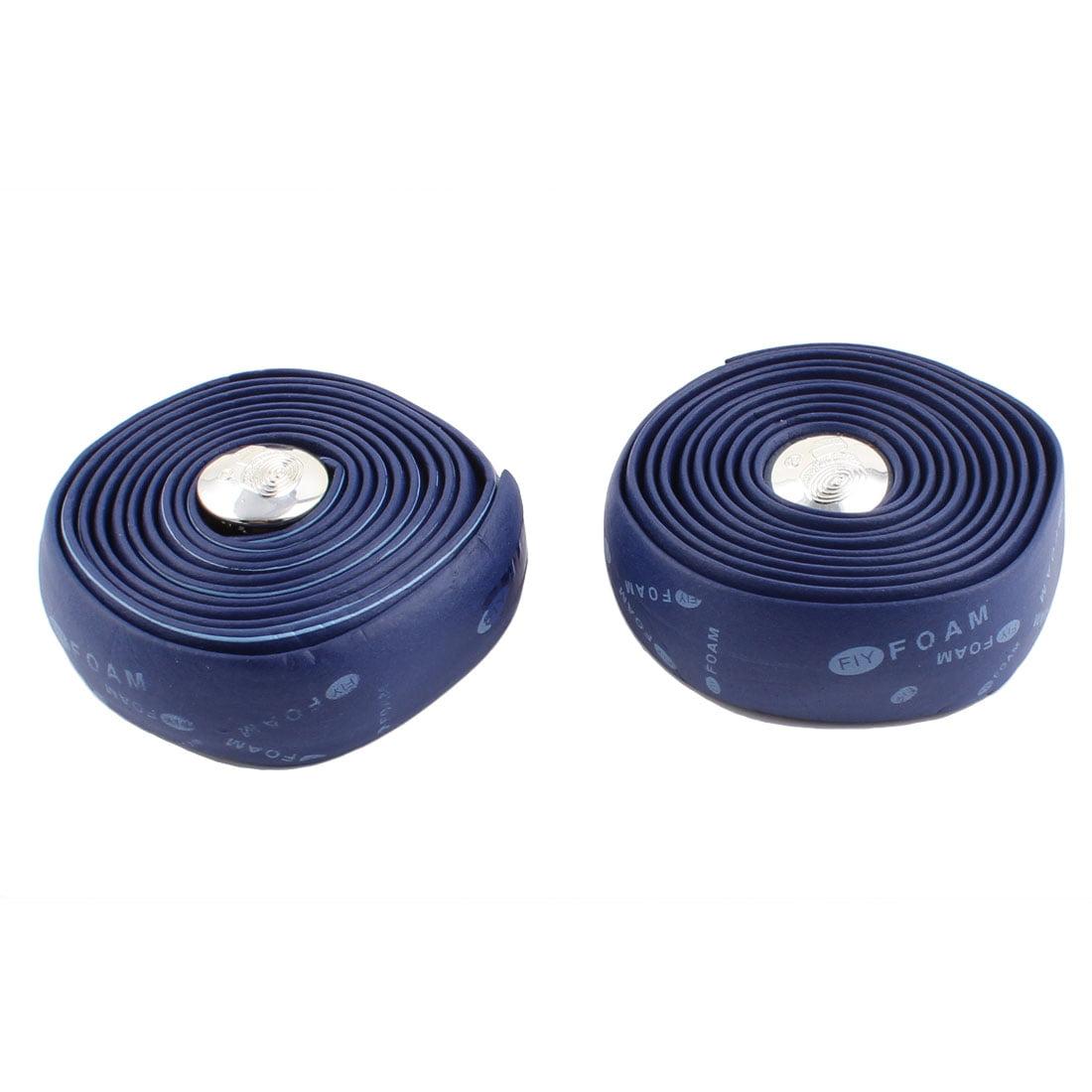 Road Bike Bicycle Handlebar Grip Wrap Ribbon Tape 200cm 2pcs Blue