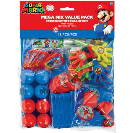 Super Mario Brothers Mega Favor Pack for - Super Mario Brothers Party Supplies