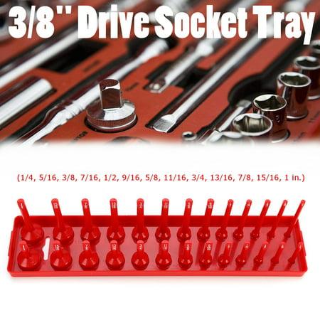 Grtxinshu 26/28/30/34 Slots Socket Rack Storage Rail Deep & Standard Socket Tray Holder Shelf Organizer Metric 1/2