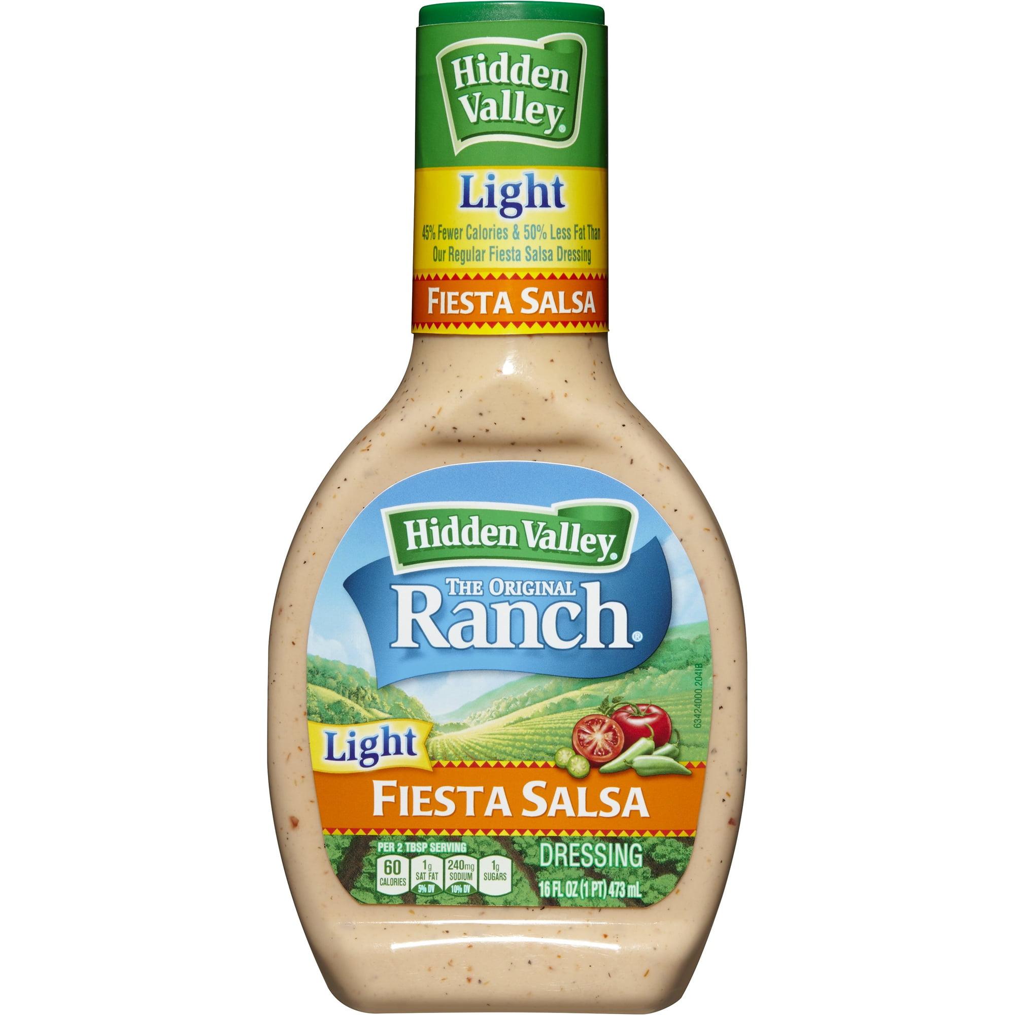 Hidden Valley Original Ranch Light Dressing, Fiesta Salsa, 16 Fluid Ounces