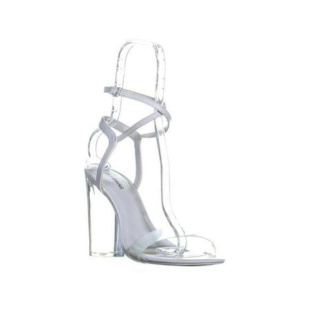Womens Call It Spring Ocalide Ankle Strap Block Heel Sandals, - Blue Stripper Heels