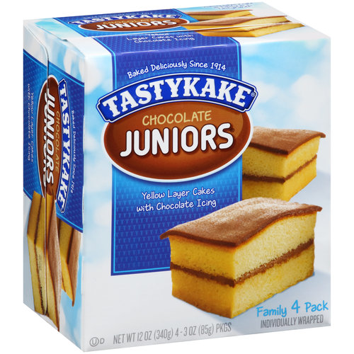 Tastykake Chocolate Juniors, 3 oz, 4 ct