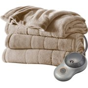 Sunbeam Plush Twin Electric Heated Mushroom Blanket, 1 Each