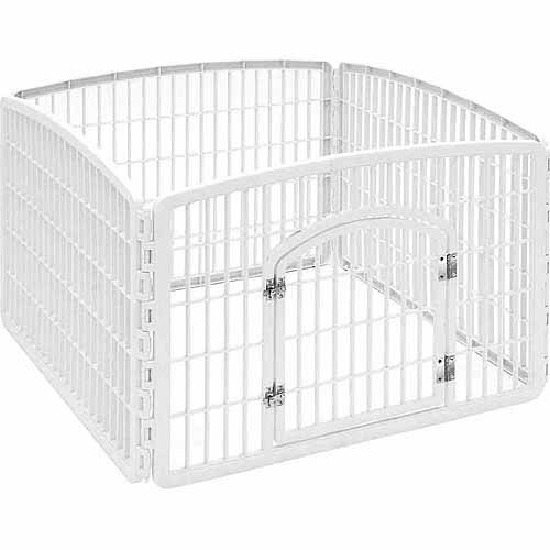 Iris Indoor/Outdoor Dog Play Pen, White