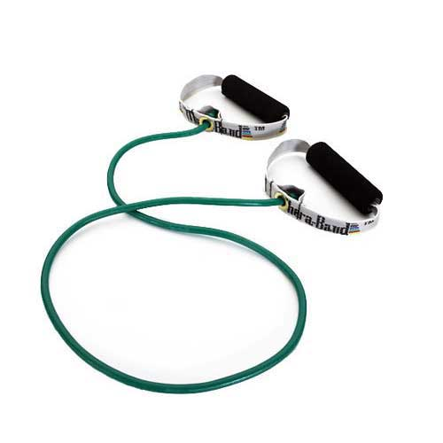 Thera-Band Resistance Tubing with Soft Grip Handles-Green / Heavy 48""