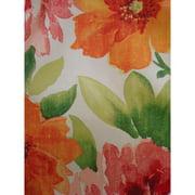 Antigua Ottoman in Royal Oak-Fabric:Spring Flowers