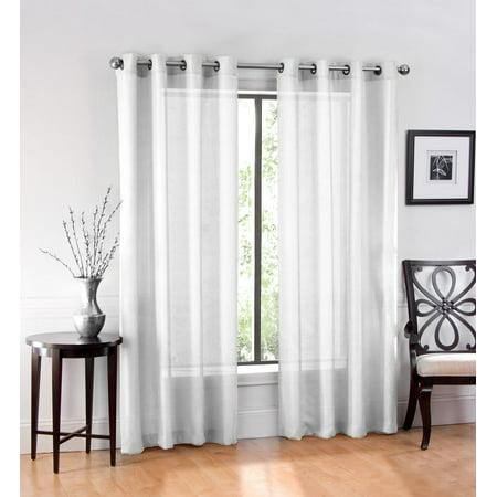 High Definition Panel (2 Pack: GoodGram Ultra Luxurious High Woven Elegant Sheer Grommet Curtain Panels -)