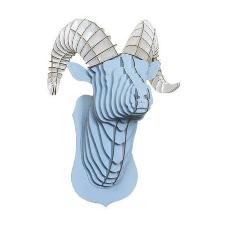 Cardboard Safari Rocky the Blue Ram Head Wall D cor