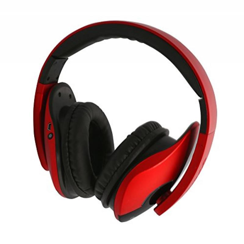 Oblanc OG-AUD23047 Bluetooth V2.1+EDR Headphone with Built-in Microphone, Red