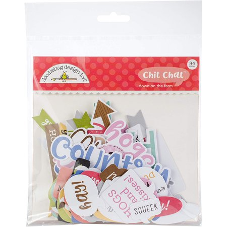 5906 Down on The Farm Chit Chat Odds and Ends Die Cuts (94 per Pack), Multicolor, The perfect addition to any paper crafting project By DOODLEBUG