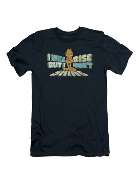d337e1adf7b937 Product Image Garfield Comic Rise Not Shine Adult Slim T-Shirt Tee