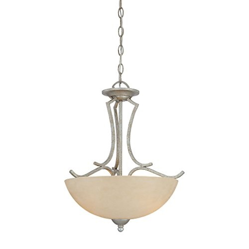 Thomas Lighting SL893572 Triton Collection 2 Light Pendant, Moonlight Silver by