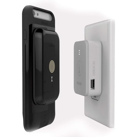 - Stacked Wireless Magnetic Charging Kit for iPhone 6/6s w/2x Magnetic Power Pack (Black)