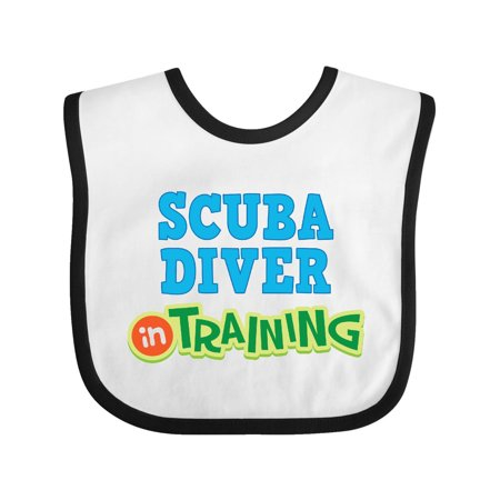 Scuba diver in Training Baby Bib White/Black One Size
