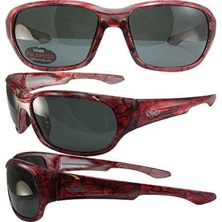 BlueWater Polarized Bahama Mama 2A Sunglasses Pink Frames Smoke (Bahama Sunglasses)