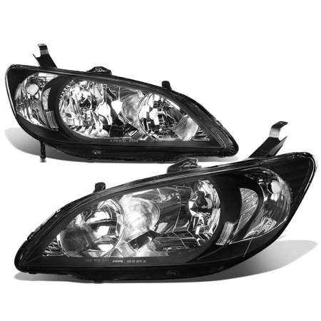 2005 Honda Civic Headlight - For 2004 to 2005 Honda Civic Headlight Black Housing Clear Corner Headlamp EM / ES 2 / 4 Door Left+Right