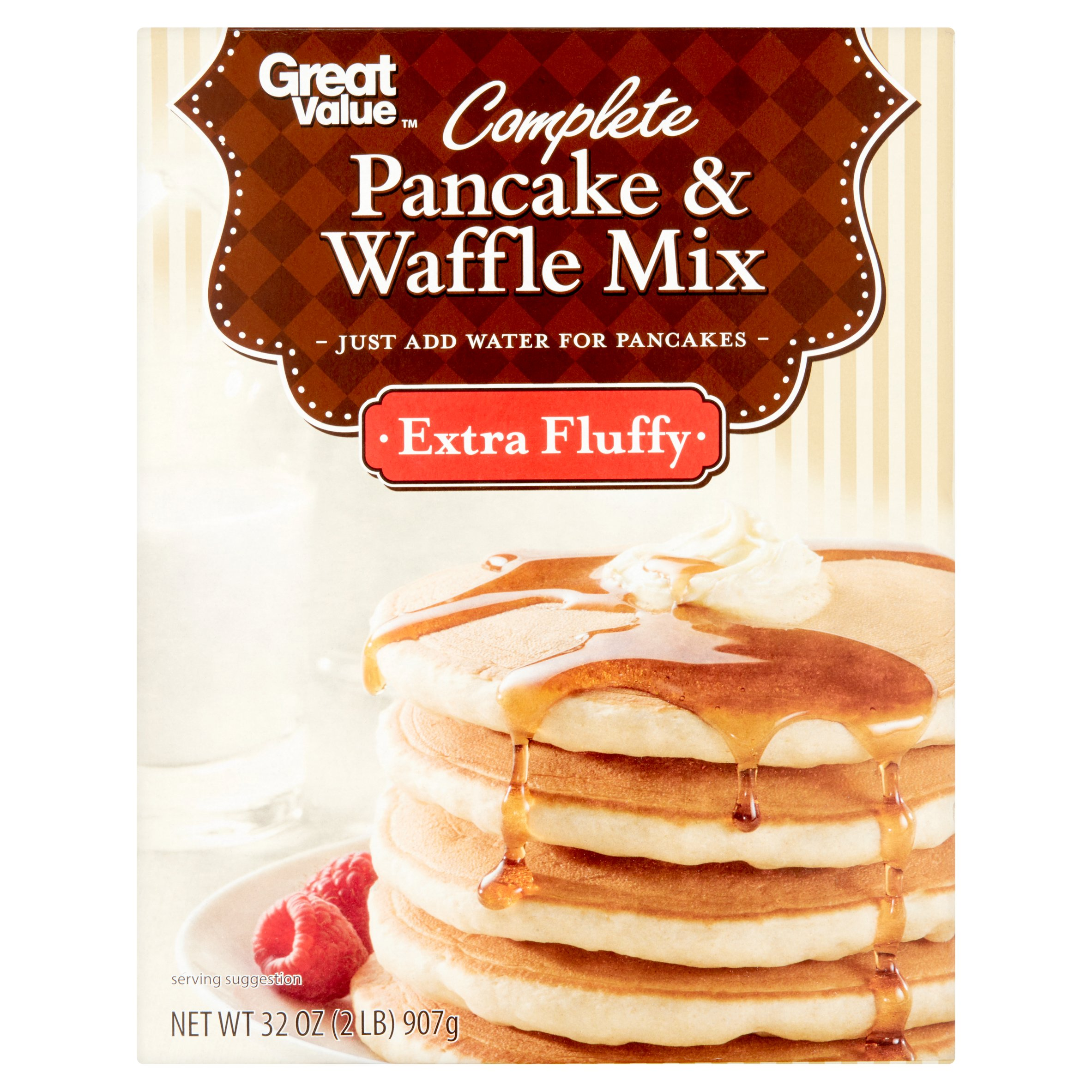 (12 Pack) Great Value Complete Pancake & Waffle Mix 32 oz