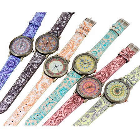 Pretty Patterns  Watch With Henna Style Belt And Mandala Dial (Baby G Pink Dial)