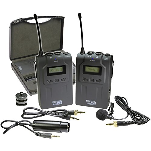 Vidpro XM-W4 Professional UHF Wireless Microphone System with Lavalier Case - image 1 de 1