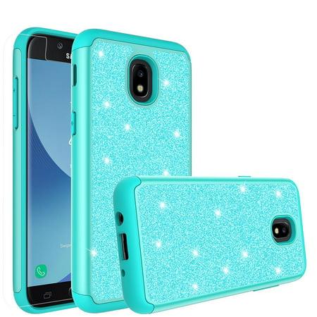 release date: 9f702 76ac0 Samsung Galaxy J3 2018, J3 V 3rd Gen, J3 Orbit, Express Prime 3, SM-J337A  Case, J3 Star, J3 Achieve, J3 Aura, Amp Prime 3, Glitter Bling Shock Proof  ...