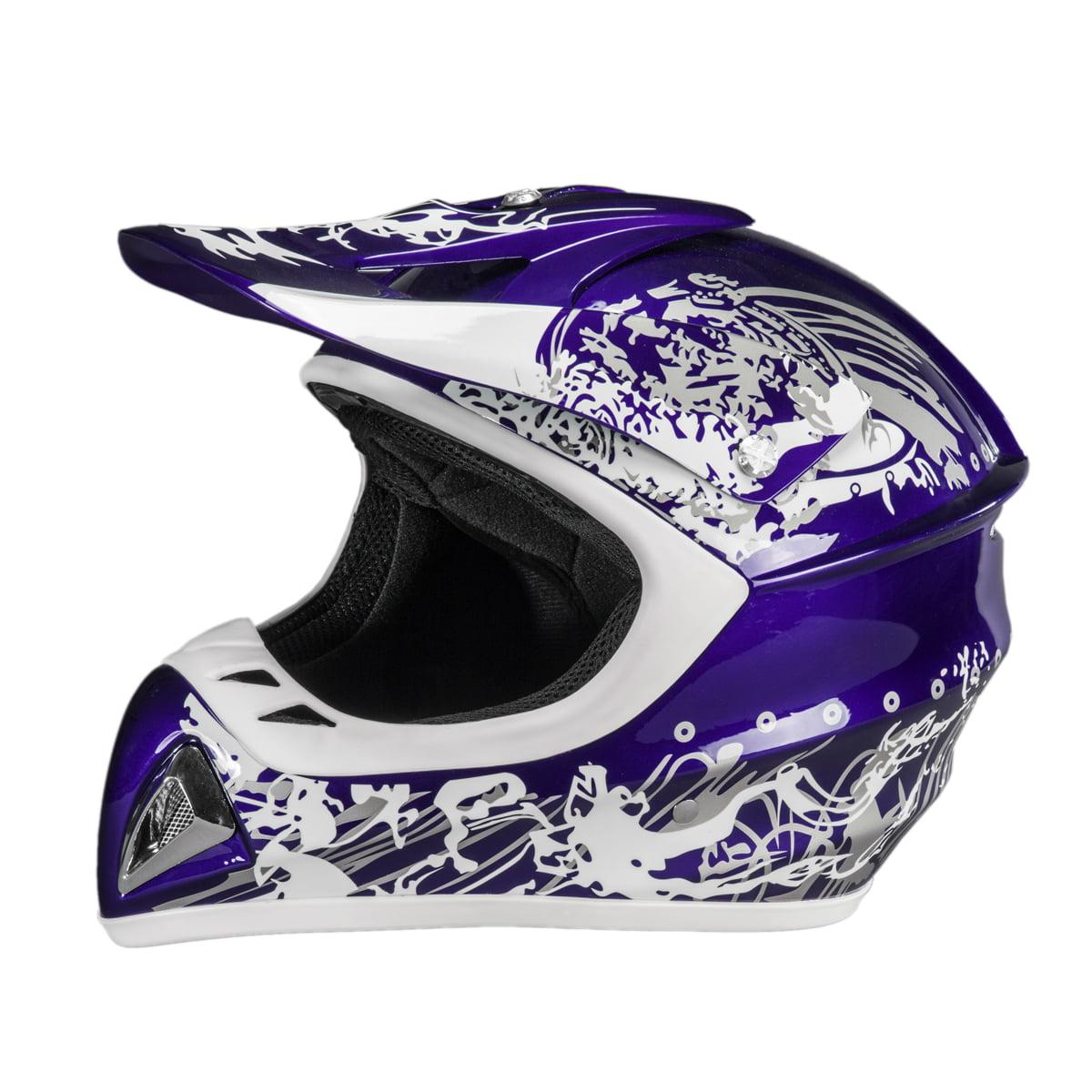 Adult Raider Adrenaline Helmet MX ATV Off Road BMX Dirt Bike Motorcycle DOT