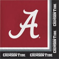 University of Alabama Paper Lunch Napkins 20 Count for 10 Guests