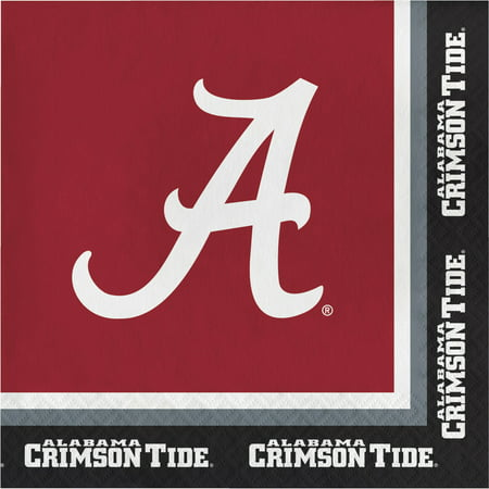 University of Alabama Napkins, 20pk - University Of Alabama Party Supplies
