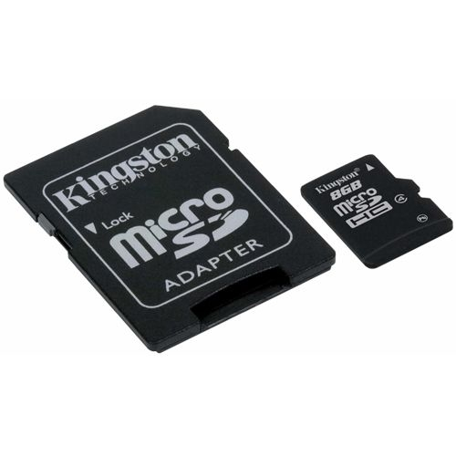 Kingston 8GB microSDHC Card - (Class 4) - 8 GB
