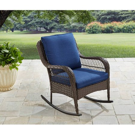 Better Homes Gardens Colebrook Outdoor Rocking Chair Walmart Com