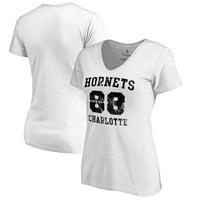 Charlotte Hornets Fanatics Branded Women's Hang Time Plus Size V-Neck T-Shirt - White