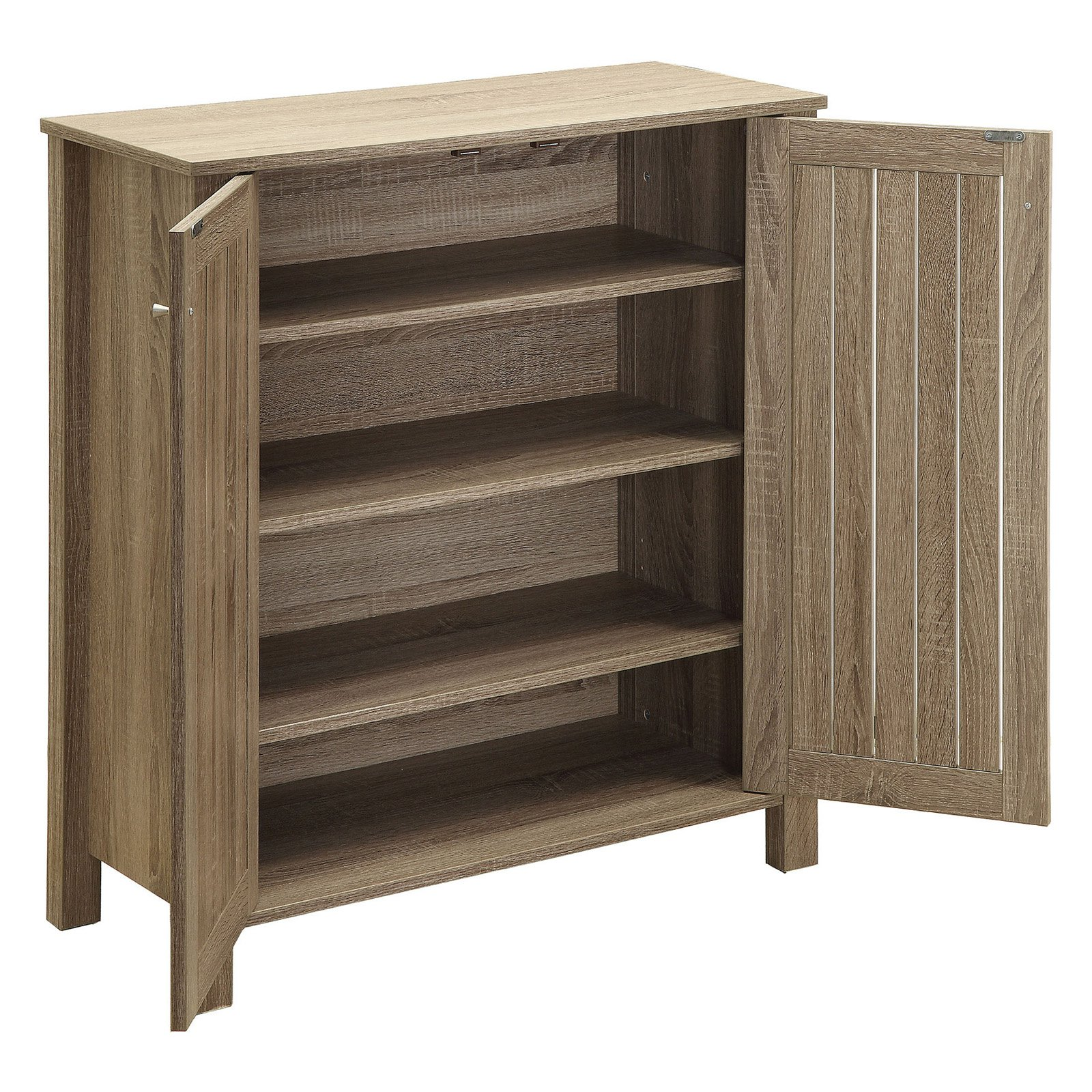 Coaster Company 2 Door Shoe Cabinet, Dark Taupe