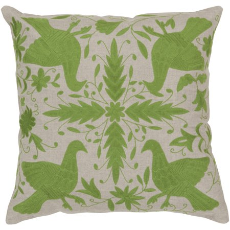 Surya Surya Pillows Area Rugs - LD018 Traditional Oriental Peridot/Oatmeal Flowers Doves Birds Rug
