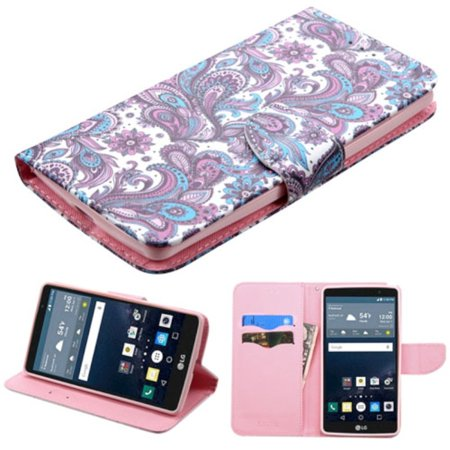 Leather Stand - LG G Stylo Phone Case, LG G Stylo Case, by Insten European Flowers Folio Leather Wallet Stand Case with card slot For LG G Stylo case cover