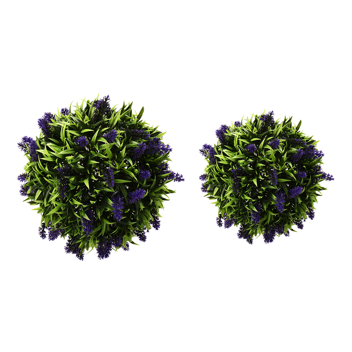 Moaere Artificial Flowers Realistic Fake Ball Simulation Lavender Topiary Plant for Home Wedding Baby Shower Birthday Party Dec