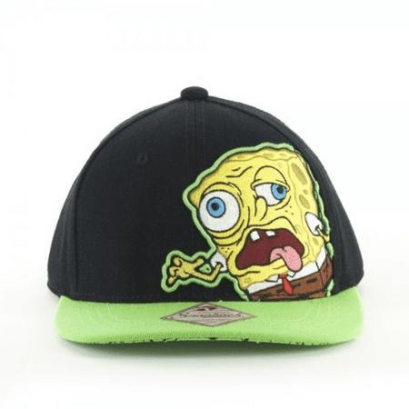 06578b5b3 Nickelodeon SPONGEBOB Zombie Embroidered Snapback Flatbill Baseball CAP/ HAT