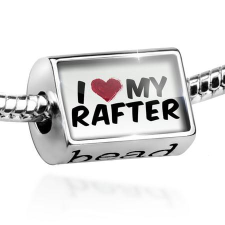 Bead I heart love my Rafter Charm Fits All European Bracelets (Womens Rafters)