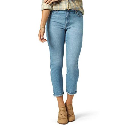 Riders by Lee Indigo Women's Heritage High Rise Relaxed Fit Skinny Ankle Jean, Antique Indigo, 8 Reg