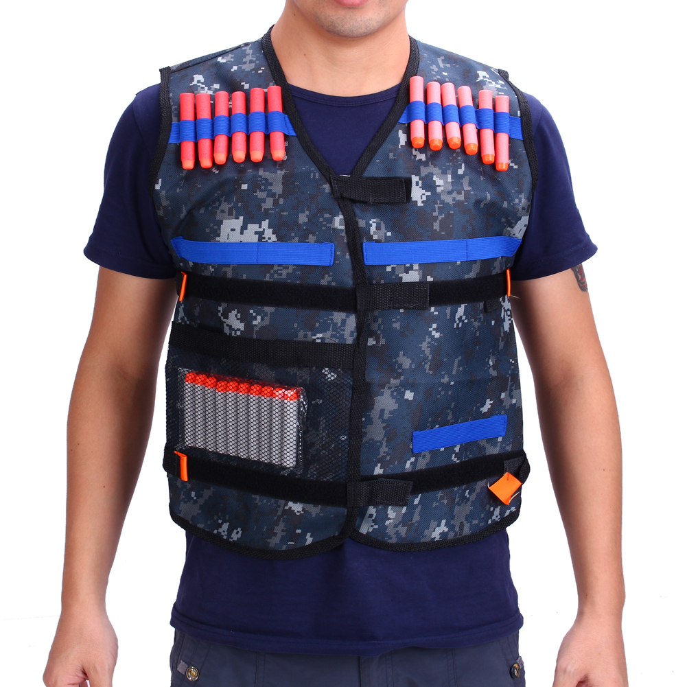 Gun Refill Darts Tactical Vest w/ Storage Pockets for Nerf N-Strike Elite Team