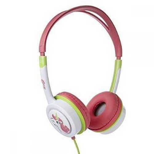 Refurbished iFrogz IFLTRC-PE0 Little Rockers Headphones, Pink/Green