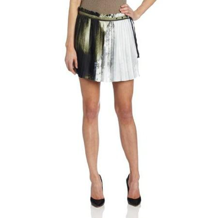 Diesel Women's O-Belial-A Skirt, Print, Small Diesel Cotton Skirt