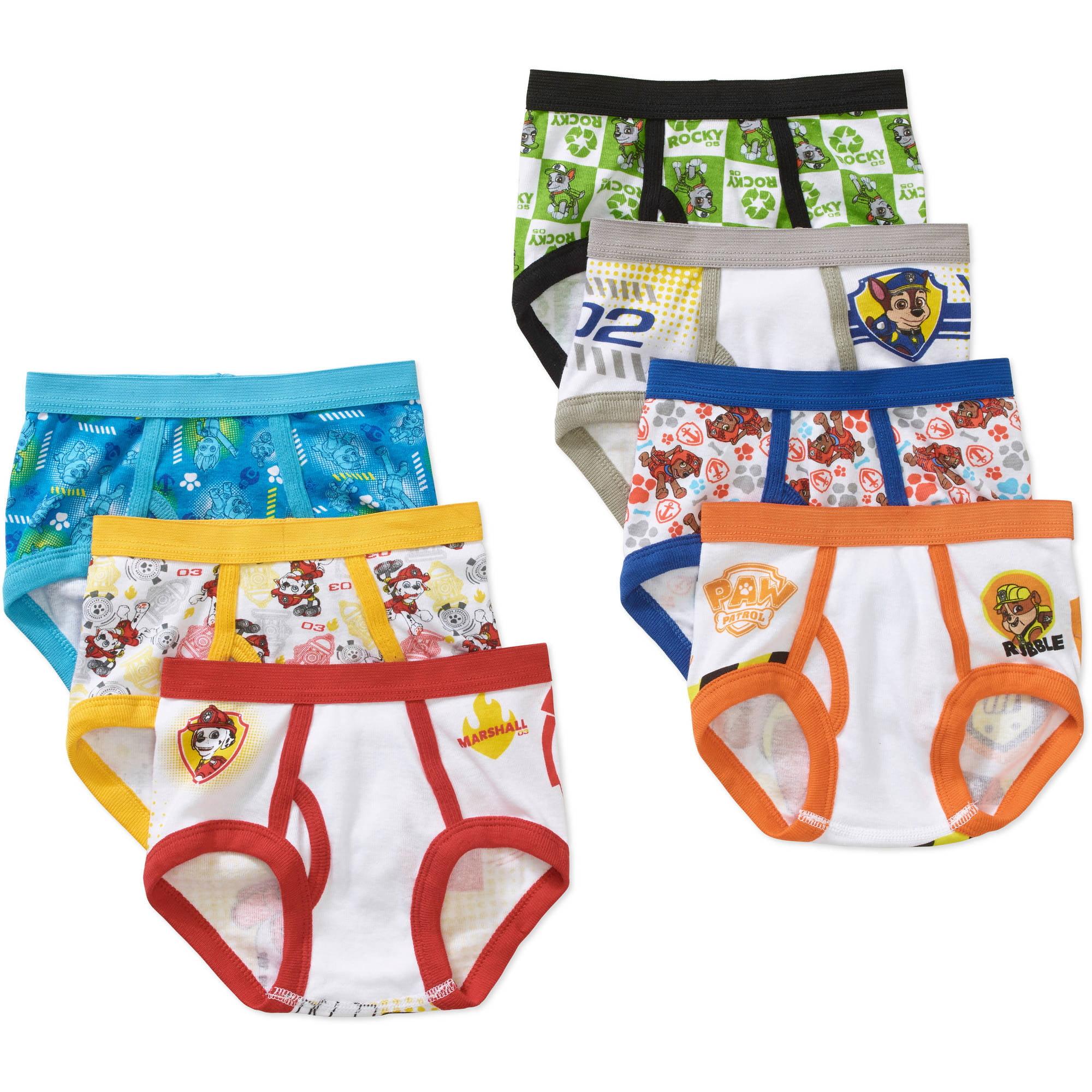Nickelodeon Paw Patrol Toddler Boys Underwear, 7 Pack - Walmart.com
