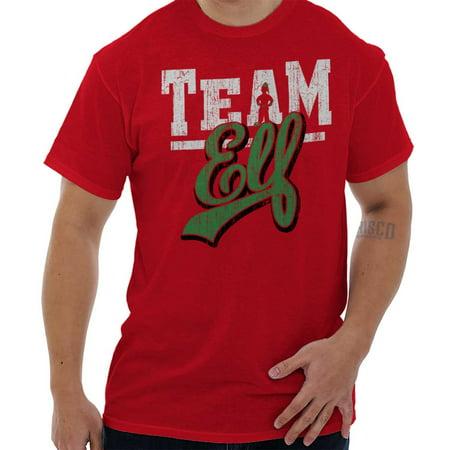 0e9b75995 Ugly Christmas Sweater - Team Elf Atheltic Santa Holiday Christmas T Shirt  Tee - Walmart.com