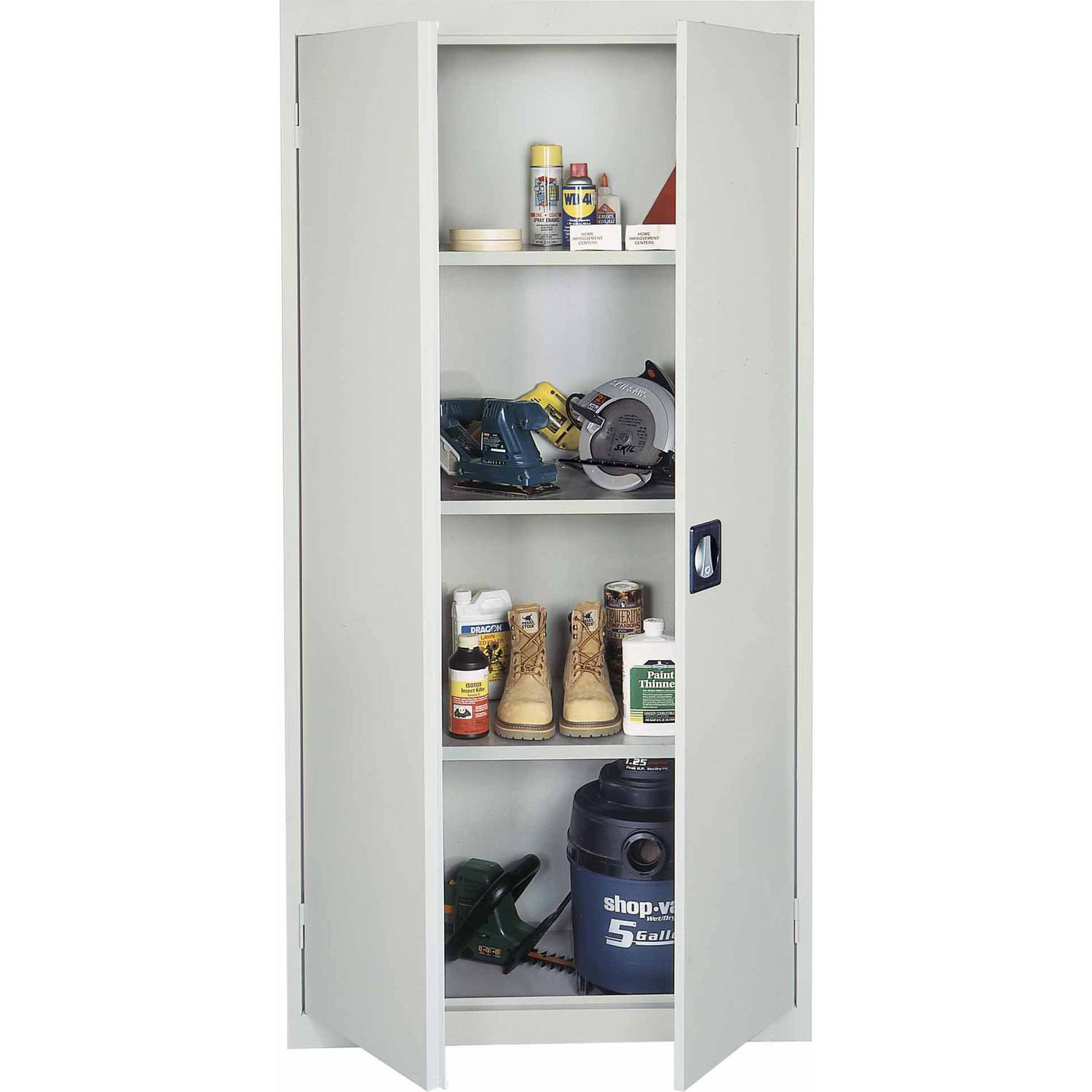 Sandusky Welded Storage Cabinet, Gray, VF3R361872-05