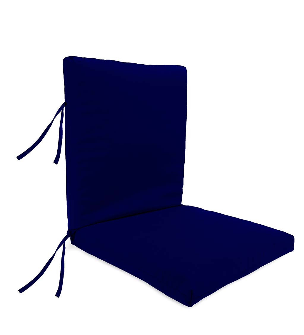 Weather Resistant Outdoor Club Chair Cushion W Ties 44 X 22