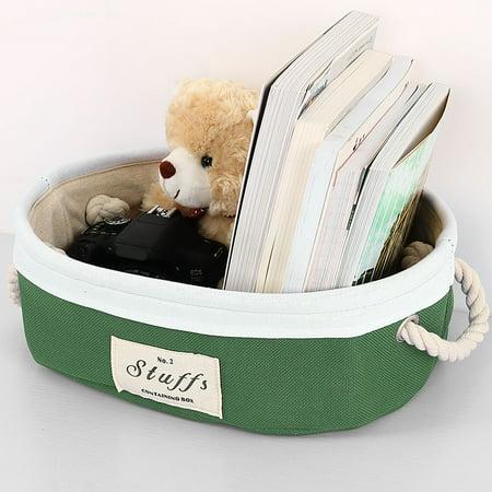 Collapsible Storage Baskets Bin Container With Handle Toys Storage Organizer Shelf Basket,3 Size ()