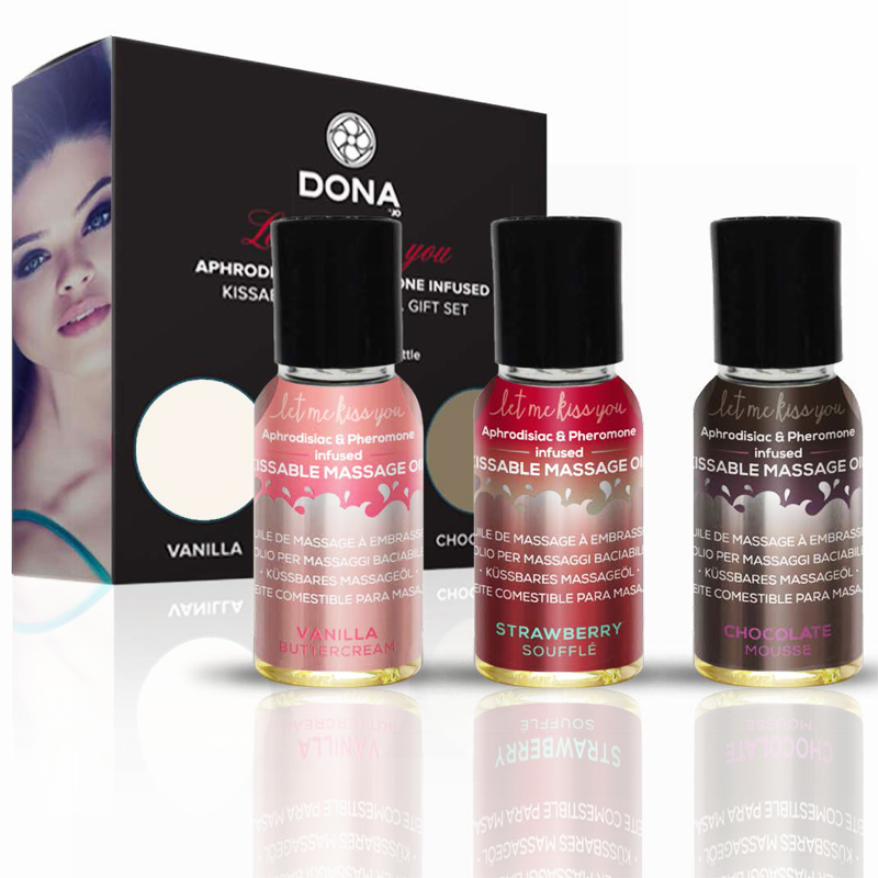 Dona Let Me Kiss You 3 Bottle Massage Kit - 1 oz