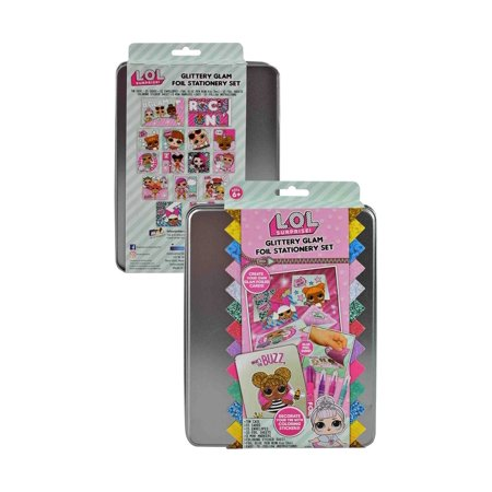 Stationery For Kids (MEGA ENTERTAINMENT LOL Surprise Glittery Glam Stationery Set (52pc Set) Novelty Character Arts and)