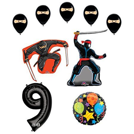 Ninja 9th Birthday Party Supplies and Balloon